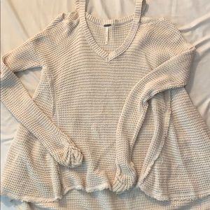 Free People cream sweater - like new!